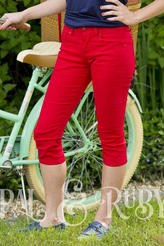 Capri's sizes 0 to 17 in red or royal blue