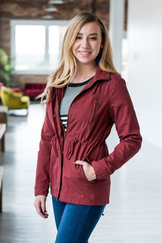 Anorak Military Jacket  |  Marsala