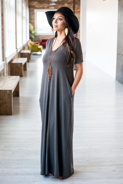 Jane V-Neck Maxi Dress  |  6 Colors  |  Small to 3X