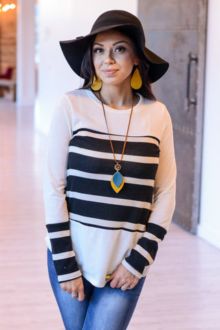 Gwendolyn Striped Sweater  |  M