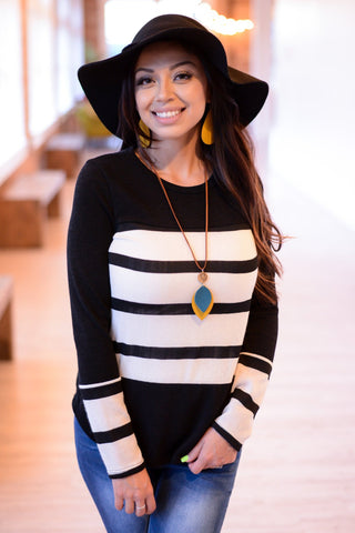 Gwendolyn Striped Sweater | 2 Colors