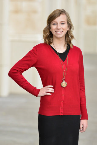 Button Sleeve Cardigan