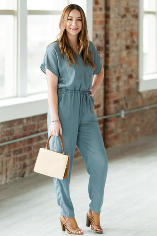Smoke Blue Jumpsuit