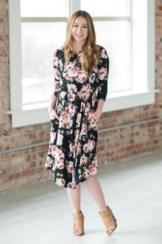 Kirsten Floral Midi | 3 Colors | Small - Large