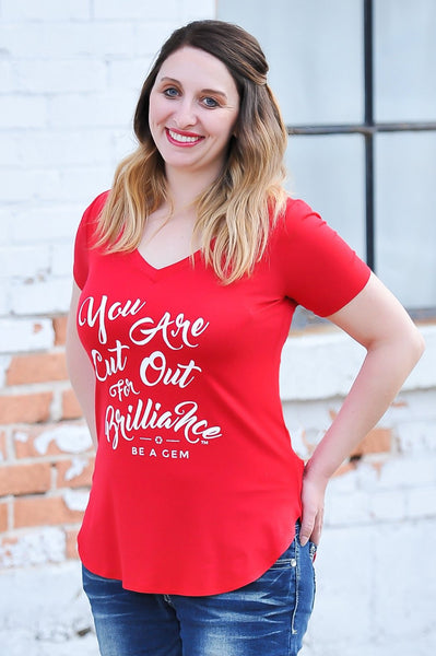 Cut Out for Brilliance Tee | 5 Colors | Small - 3X