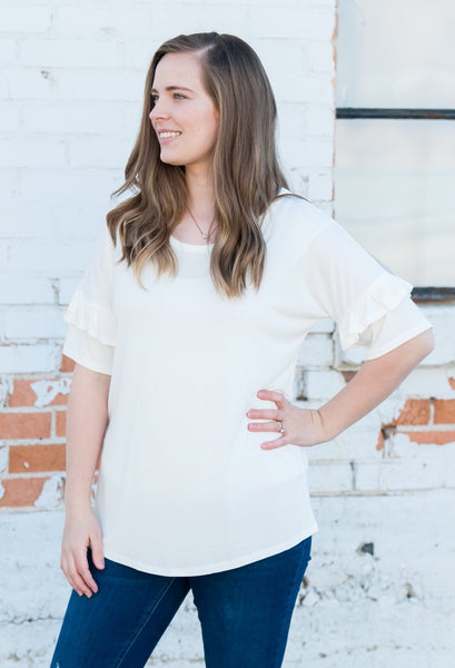Ruffle Sleeve Shirts  |  3 Colors