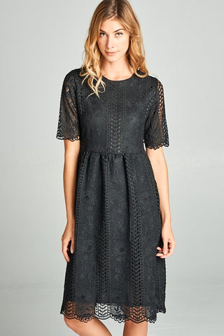 Lace Dress | Brick or Black