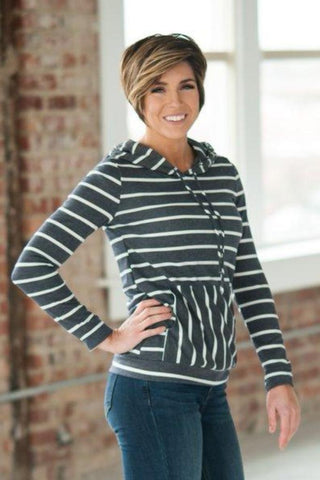 Spring Stripes Hoodie  |  2 Colors