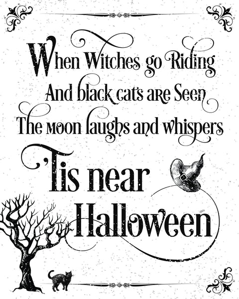 FREE Halloween Printables - 4 colors