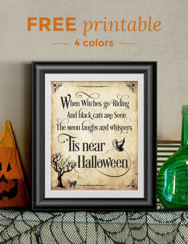 FREE Halloween Printables | 4 colors