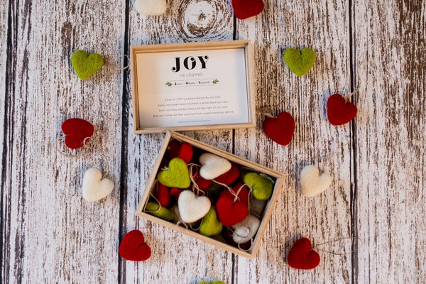 Box of JOY - A Heart Felt Ornament Tradition