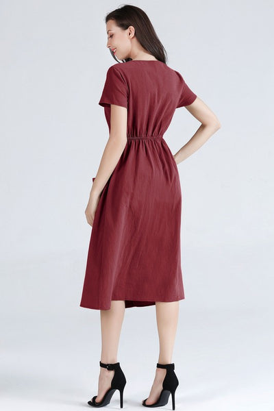 Karen Button Up Midi Dress