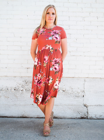 Mary Floral Midi  |  5 Fall Colors