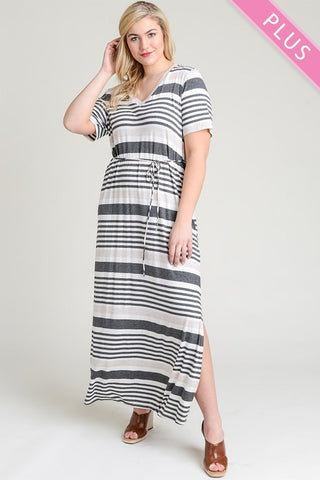 Bree Striped Maxi Dress | 1X - 3X
