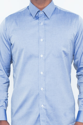 Blue Chambray Shirt - Alexander Bironi
