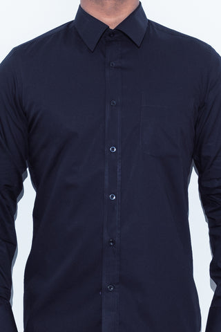 Black Broadcloth Shirt - Alexander Bironi