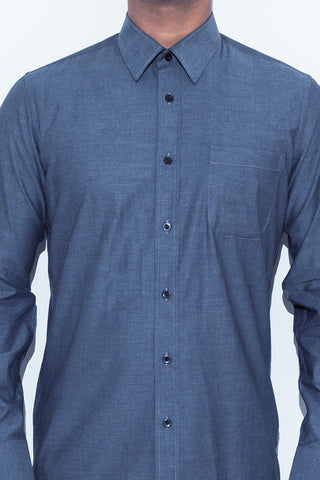 Black Chambray Shirt - Alexander Bironi