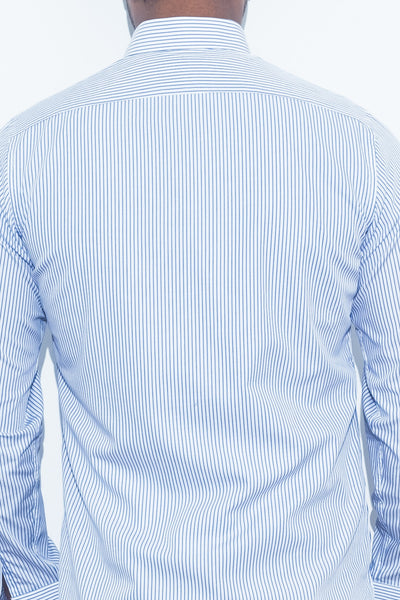 Light Blue Pinstripe Shirt - Alexander Bironi
