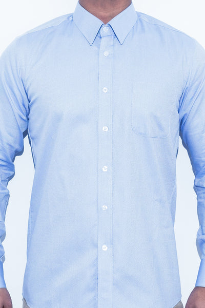 Blue Diamond Pattern Shirt - Alexander Bironi