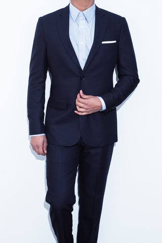 Black Basketweave Suit - Alexander Bironi