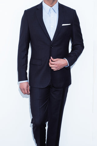 Black Square Check Suit - Alexander Bironi