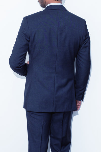 Classic Navy Check Suit - Alexander Bironi