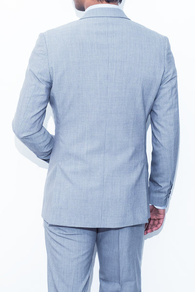 Light Grey Pinstripe Suit - Alexander Bironi
