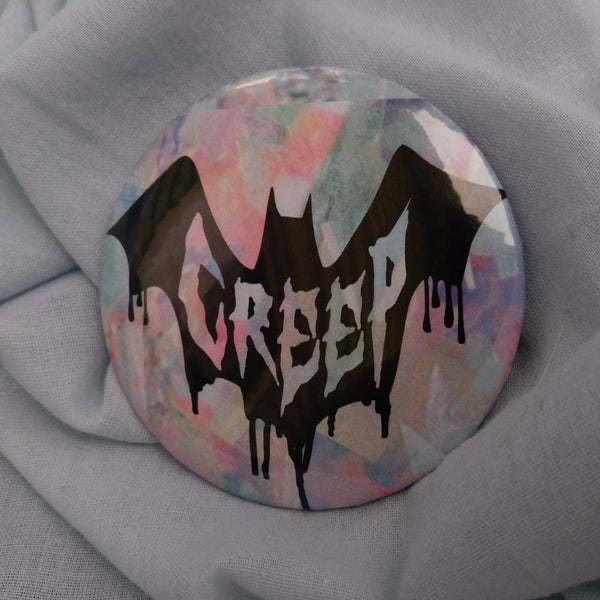 Creep Button | Button | Nu Goth & Alternative Apparel | Build Your Empire Clothing Co.