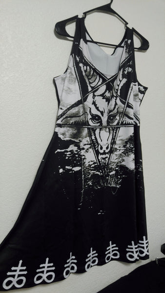 Question Everything Baphomet Dress | Dress | Nu Goth & Alternative Apparel | Build Your Empire Clothing Co.