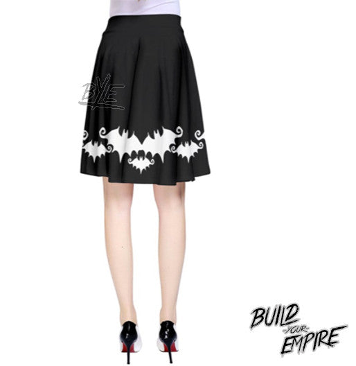 Bat Babe High Waisted Skirt | Skirt | Nu Goth & Alternative Apparel | Build Your Empire Clothing Co.