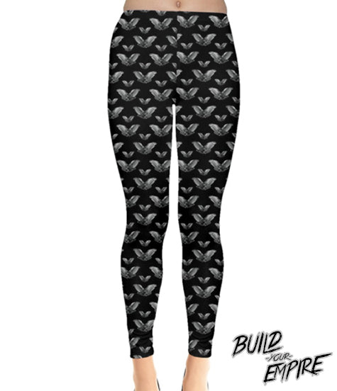 Vampire Bat Leggings | Leggings | Nu Goth & Alternative Apparel | Build Your Empire Clothing Co.
