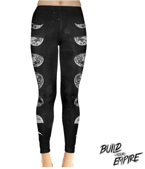Moon Phase Leggings | Leggings | Nu Goth & Alternative Apparel | Build Your Empire Clothing Co.