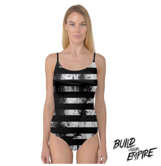 Grunge Striped Body Suit | body suit | Nu Goth & Alternative Apparel | Build Your Empire Clothing Co.