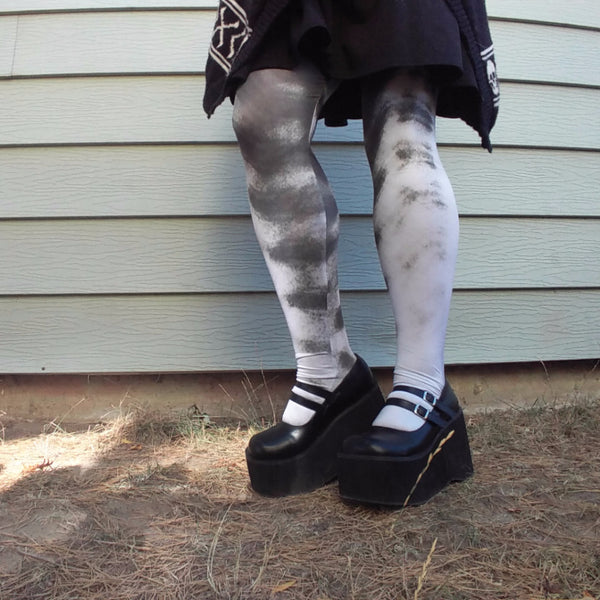 Alien Armor Tights | Tights | Nu Goth & Alternative Apparel | Build Your Empire Clothing Co.