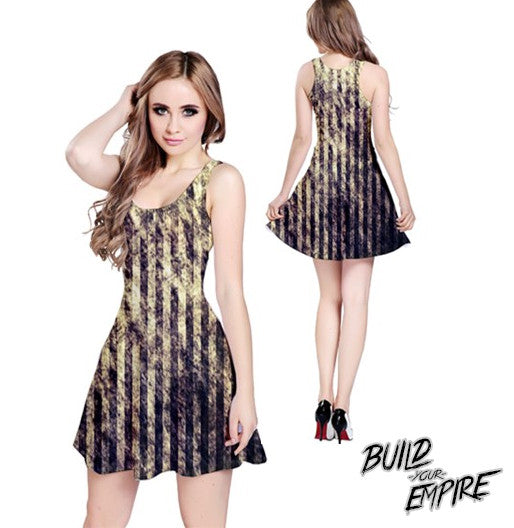 Striped Carnival Dress | Dress | Nu Goth & Alternative Apparel | Build Your Empire Clothing Co.