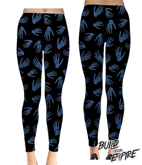 Idle Hands Leggings - Build Your Empire Clothing Co | Nu goth & Alternative Apparel - 3