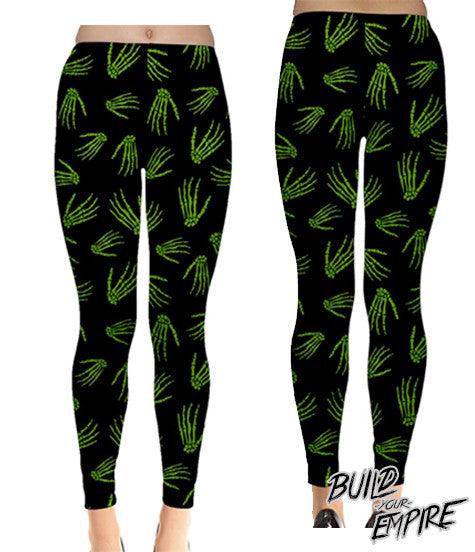 Idle Hands Leggings - Build Your Empire Clothing Co | Nu goth & Alternative Apparel - 6