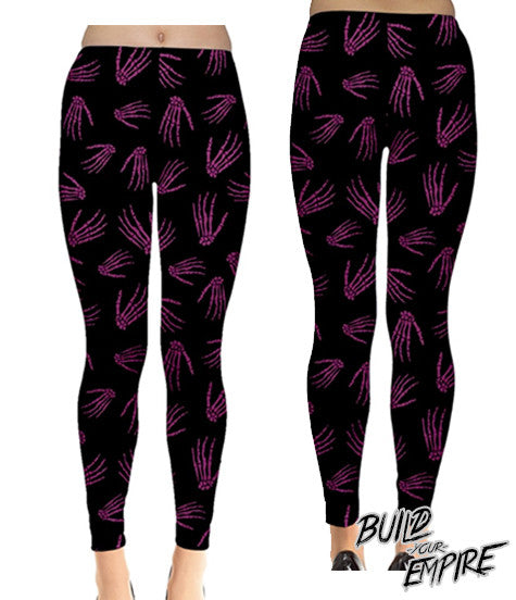 Idle Hands Leggings - Build Your Empire Clothing Co | Nu goth & Alternative Apparel - 7