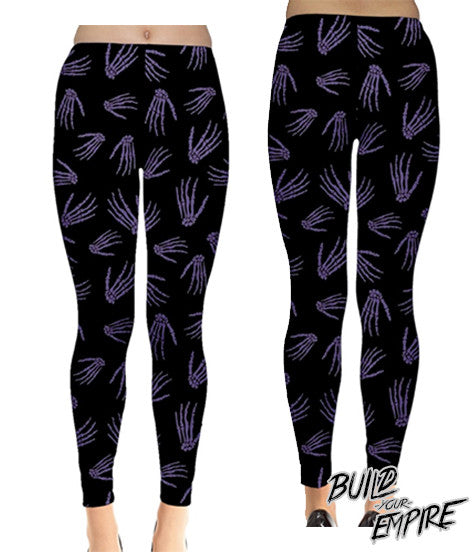 Idle Hands Leggings - Build Your Empire Clothing Co | Nu goth & Alternative Apparel - 8