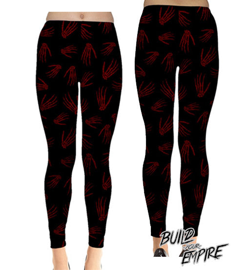 Idle Hands Leggings - Build Your Empire Clothing Co | Nu goth & Alternative Apparel - 5