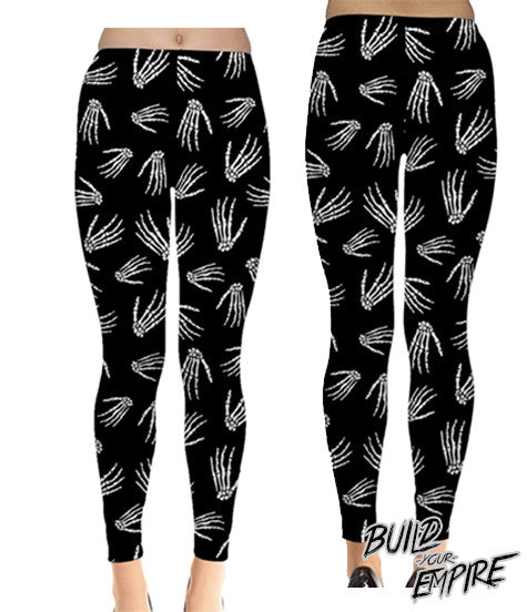 Idle Hands Leggings | Leggings | Nu Goth & Alternative Apparel | Build Your Empire Clothing Co.