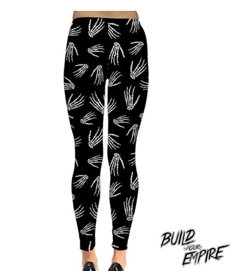 Idle Hands Leggings - Build Your Empire Clothing Co | Nu goth & Alternative Apparel - 4