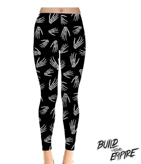 Idle Hands Leggings - Build Your Empire Clothing Co | Nu goth & Alternative Apparel - 1