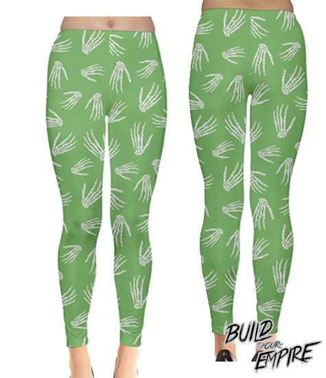 Idle Hands Pastel Leggings | Leggings | Nu Goth & Alternative Apparel | Build Your Empire Clothing Co.