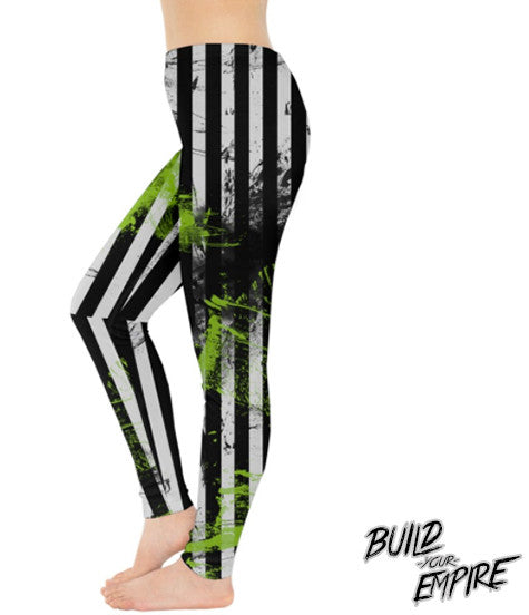 Say My Name 3 Times Leggings | Leggings | Nu Goth & Alternative Apparel | Build Your Empire Clothing Co.