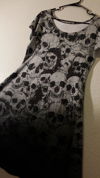 Pile of Skulls Dress - Build Your Empire Clothing Co | Nu goth & Alternative Apparel - 9