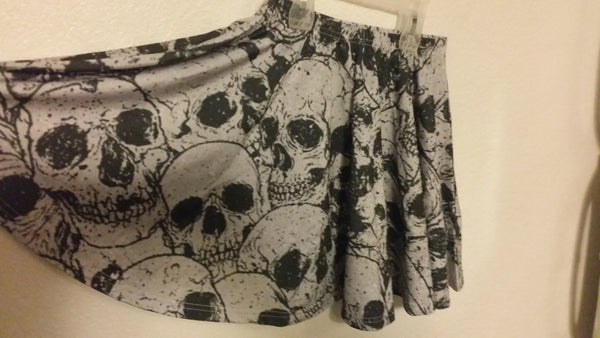 Pile of Skulls Skirt | Skirt | Nu Goth & Alternative Apparel | Build Your Empire Clothing Co.