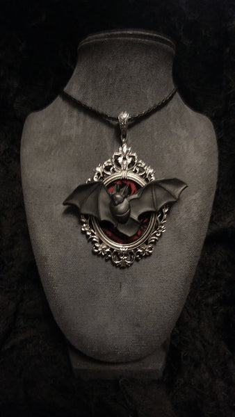 Bat Frame Necklace | Necklace | Nu Goth & Alternative Apparel | Build Your Empire Clothing Co.