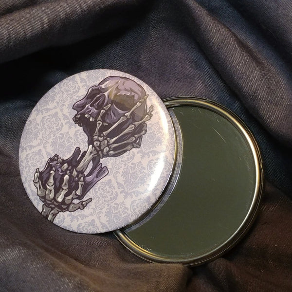 Purple Skull Pocket Mirror | Mirror | Nu Goth & Alternative Apparel | Build Your Empire Clothing Co.