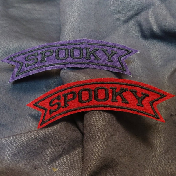 Spooky Patch | patch | Nu Goth & Alternative Apparel | Build Your Empire Clothing Co.